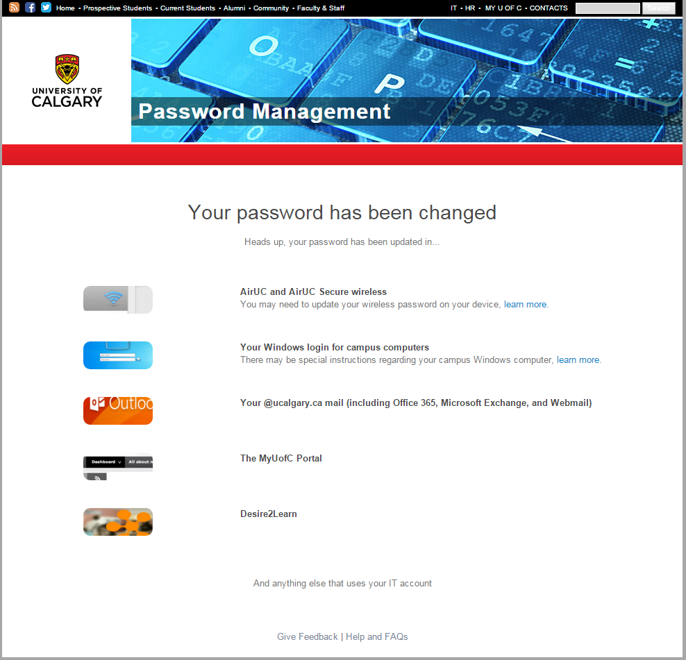 Password management final page