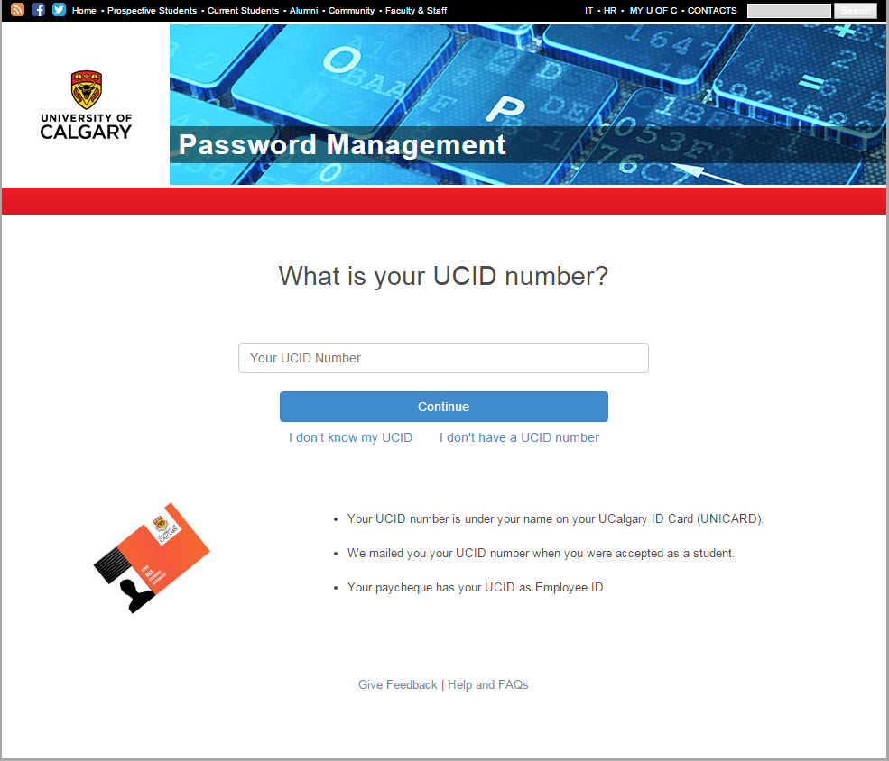 Password management identification
