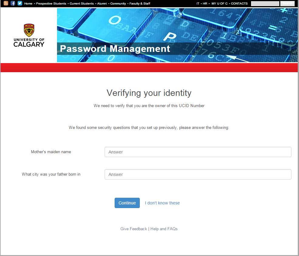 Password management verify